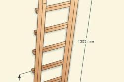 Схема лестницы двухъярусной кровати