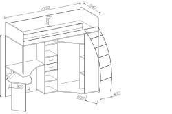 Схема размеров кровати