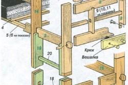 Схема сборки детской кровати-чердака