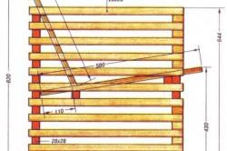 Чертеж деревянного кресла.