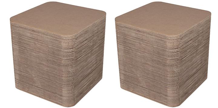 Пуфик картонный