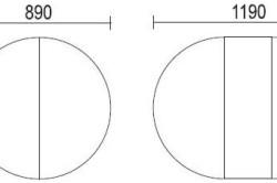 Схема деревянной круглой поверхности стола