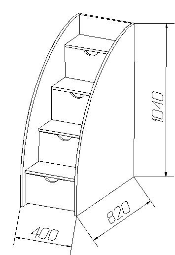 Тумба - лестница
