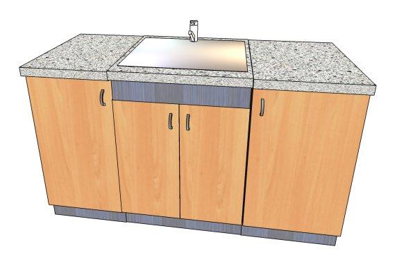 Если Вы хотите тумбу под мойку, следует определиться с местом и материалом. Тумба обязательно должна быть покрыта водонепроницаемым лаком.