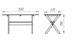 Чертеж простейшего садового стола