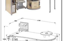 Чертеж углового компьютерного стола