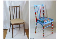 Декорирование мебели тканью