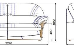 Схема размеров деревянного дивана