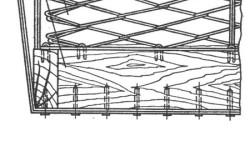 Схема формирования дивана на пружинном блоке