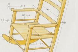 Схема кресла-качалки из стула