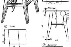Схема реставрации стула своими руками