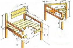 Схема размеров садового стула