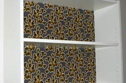 Шкаф, отделанный тканью