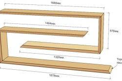 Схема книжных полок