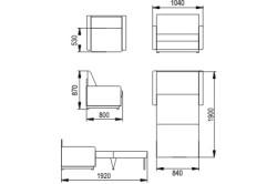 Схема кресло-кровати без каркаса с размерами