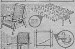 Схема ремонта старого кресла и стула