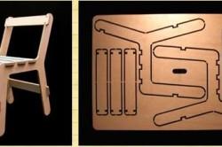 Схема деталей табурета
