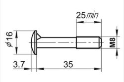 Схема мебельного винта