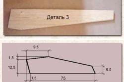 Схема ножек с размерами для журнального столика