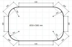 Схема столешницы с размерами