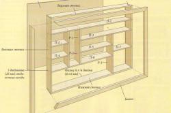 Схема книжной полки-стеллажа