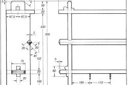 Схема типовых размеров для деревянной полки