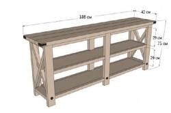 Общий чертеж мебели