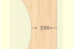 Схема боковины стола
