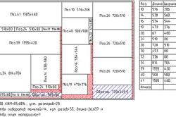Пример карты раскроя гарнитура.