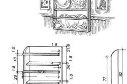 Рисунок 1. Схема расположения крепежных элементов полки
