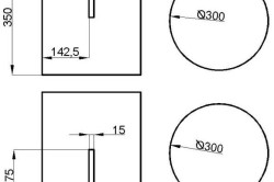 Схема пуфика с размерами.