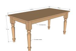 Чертеж обеденного стола своими руками