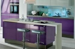 Барный столик и кухонный гарнитур в едином стиле