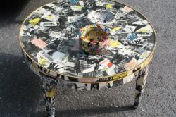 Декорирование стола способом декупаж