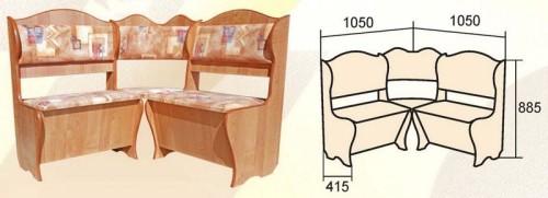Размеры кухонного уголка