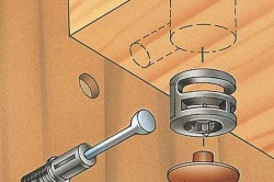 Эксцентриковая трехэлементная стяжка фанерных заготовок