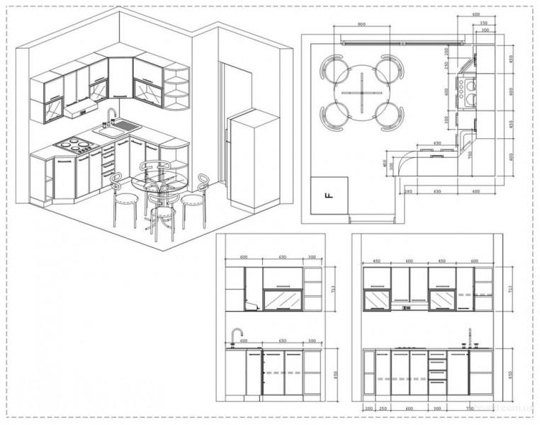 Проект кухни и расстановка мебели