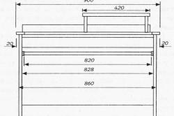 Схема стола из ДСП с размерами