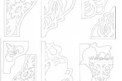 Образцы рисунка для изготовления резной мебели