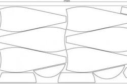 Схема расположения выкройки на ткани