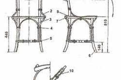 Плетенный стул с фанерной спинкой