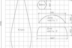 Пример готовой выкройки с размерами