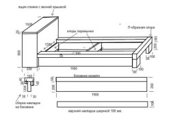 Чертеж самодельной деревянной кровати