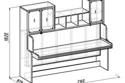 Чертеж стола кровати трансформер