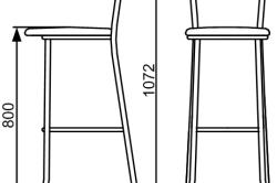 Схема деревянного барного стула