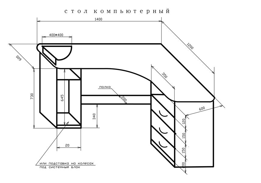Схема простого компьютерного