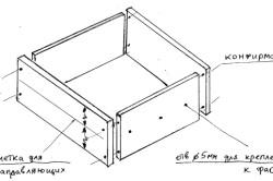 Схема сборки ящика шкафчика