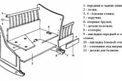 Схема сборки кроватки-качалки
