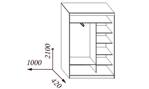 Схема шкафа-купе