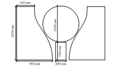 Схема выкройки мягкого кресла